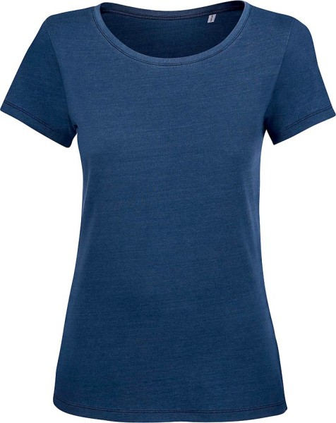 Wants denim - T-Shirt aus Bio-Baumwolle - mid washed indigo - Bild 1