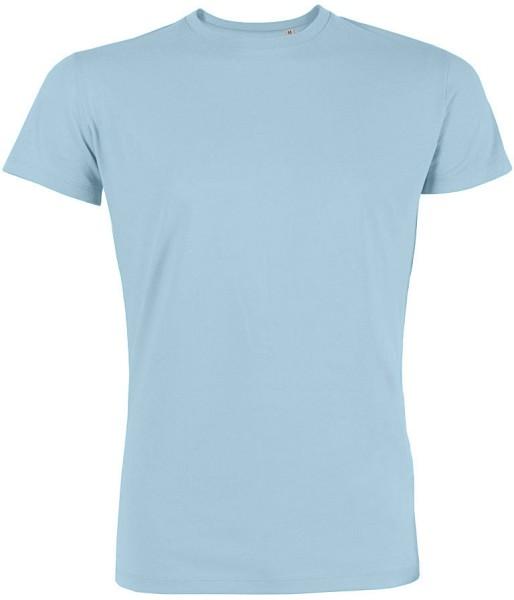 Leads - Kurzarmshirt aus Bio-Baumwolle - hellblau