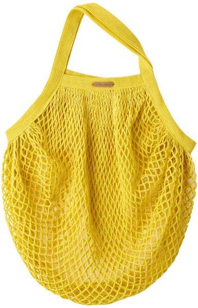 Kleine Netztasche aus Bio-Baumwolle - 36x40cm - lemon