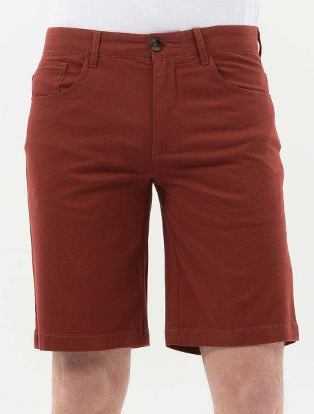 Tight Fit Shorts aus Bio-Baumwolle - hot chocolate