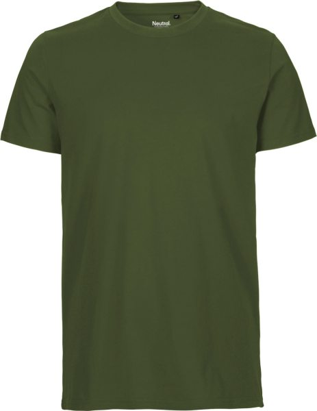 Fitted T-Shirt aus Fairtrade Bio-Baumwolle - military green