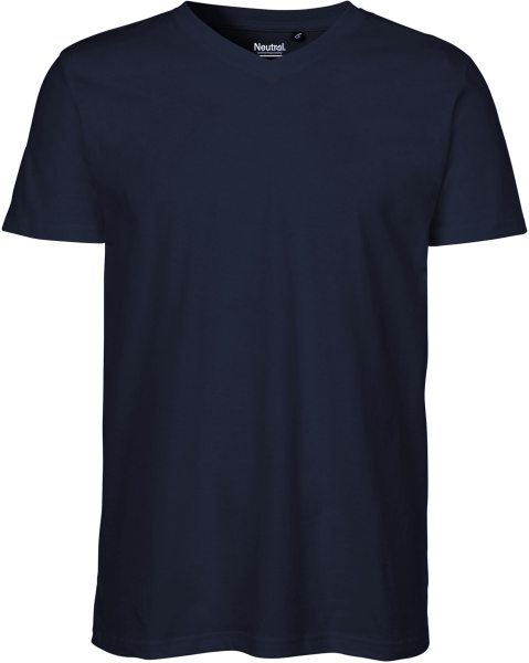 V-Neck T-Shirt Fairtrade Bio-Baumwolle - navy