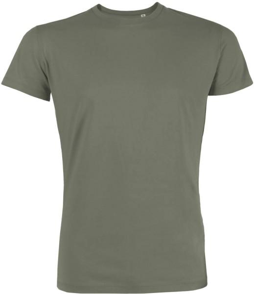 Leads - Kurzarmshirt aus Bio-Baumwolle - light khaki