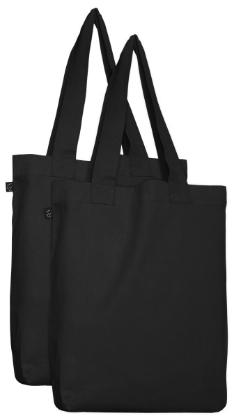 Doppelpack - Organic Cotton Bag - schwarz