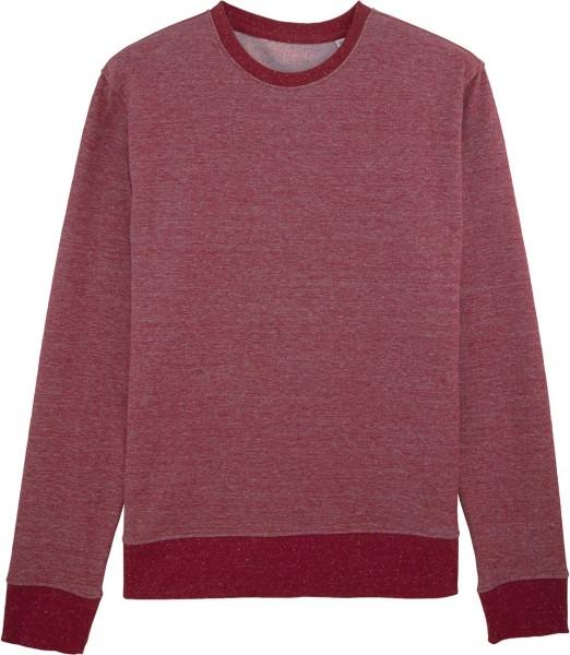 Sweatshirt aus Bio-Baumwolle - dark heather burgundy