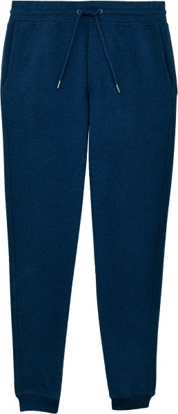 Jogginghose aus Bio-Baumwolle - black heather blue