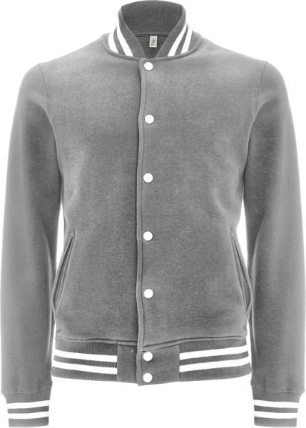 Varsity Jacket - College-Jacke aus Biobaumwolle - grau-meliert - Bild 1