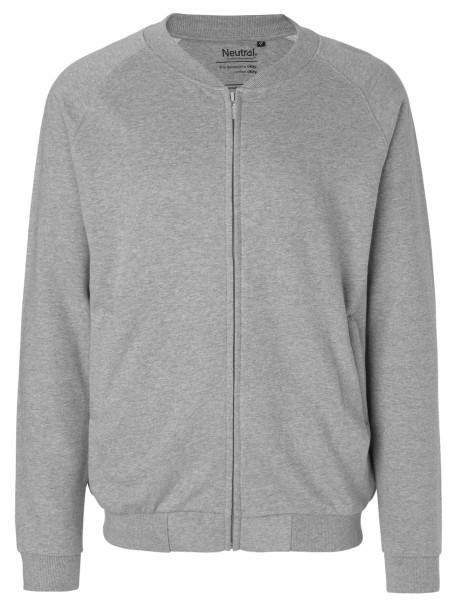 Zip-Jacke aus Fairtrade Bio-Baumwolle - grau-meliert
