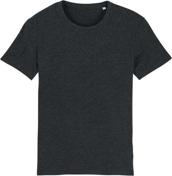 T-Shirt aus Bio-Baumwolle - heather black denim