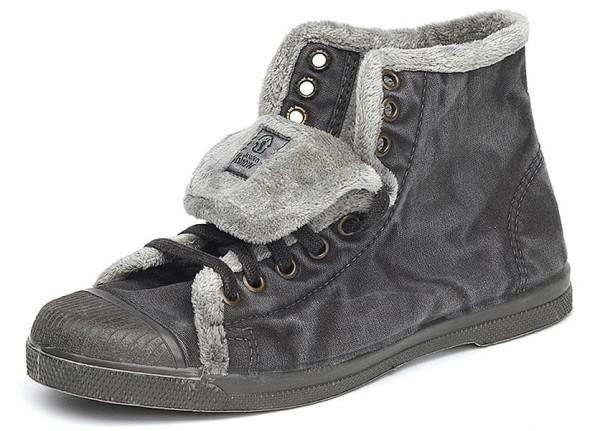 Bota Sport - Hohe Sneakers aus Bio-Baumwolle - negro enz. - Bild 1