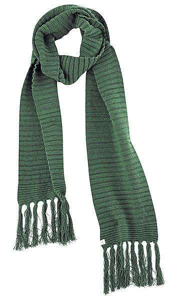 Fransenschal aus Bio-Baumwolle und Hanf - algae-graphit - Bild 1