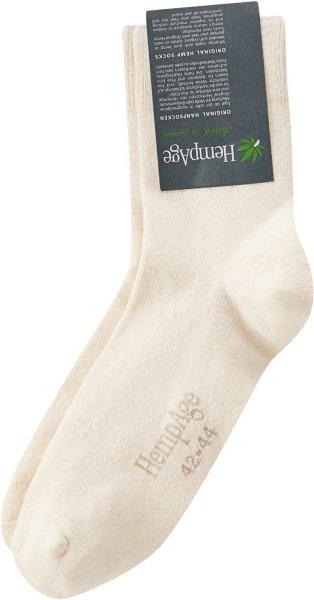 Socken aus Biobaumwolle & Hanf natur