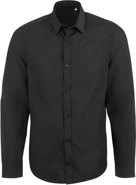 Manages - Business-Hemd aus Biobaumwolle - schwarz