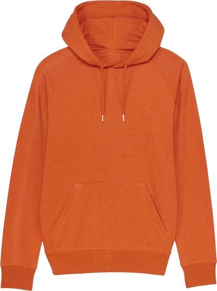 Raglan-Hoodie aus Bio-Baumwolle - black heather orange