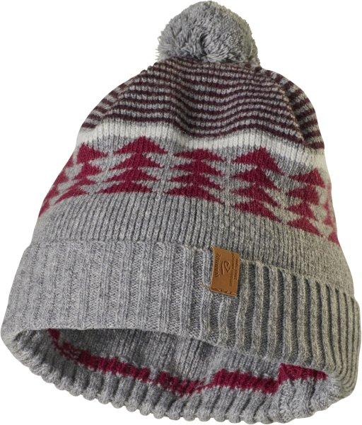 Fox - Mütze mit Umschlag aus Wolle - grey marl