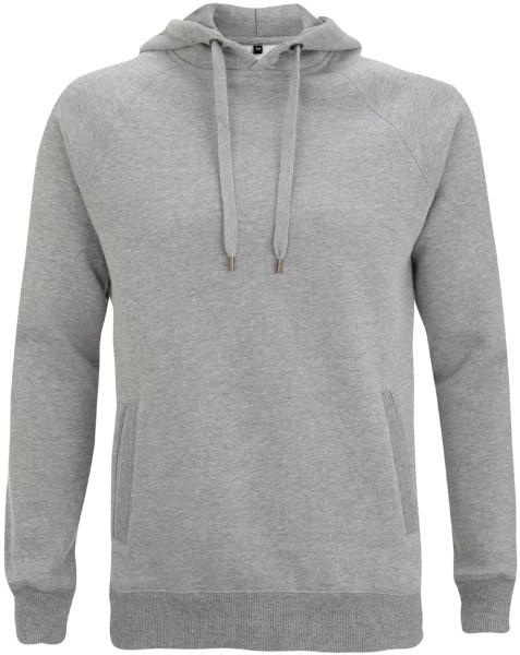 Unisex Hoodie aus Baumwolle grau meliert