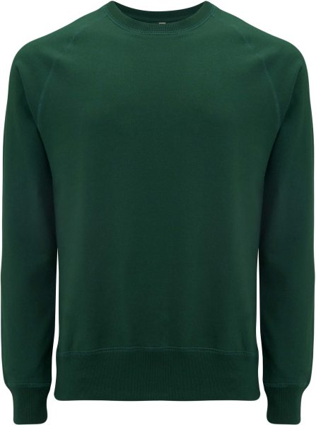 Recycled Unisex Sweatshirt Baumwolle und Polyester - bottle green