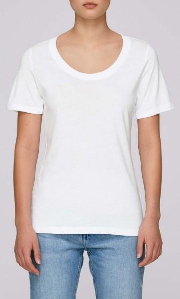 Faces - Rundhals T-Shirt aus Bio-Baumwolle - weiss - Bild 1
