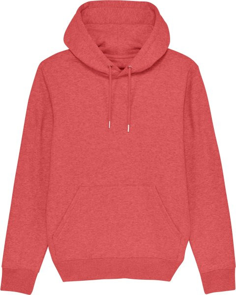 Unisex Hoodie aus Bio-Baumwolle - mid heather red