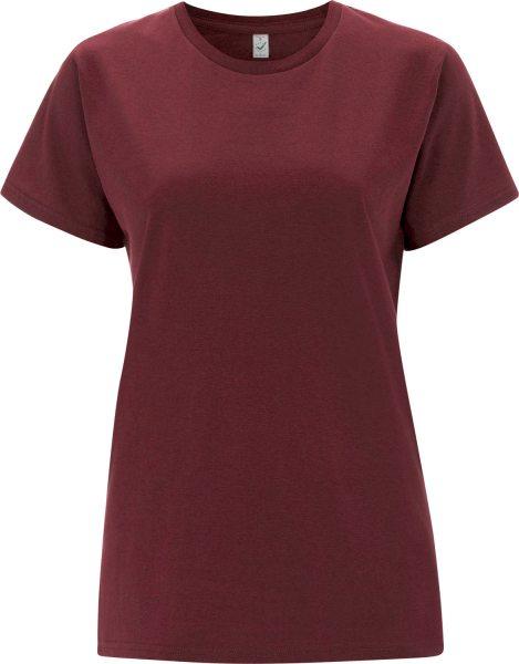 Organic T-Shirt CO2-neutral - burgundy
