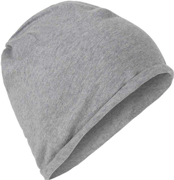 Fairtrade Jersey-Mütze aus Bio-Baumwolle - grau-meliert