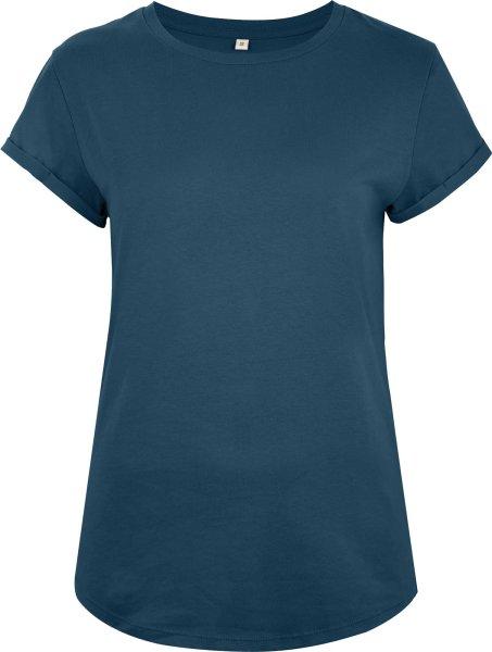 Organic Rolled Sleeve T-Shirt - denim