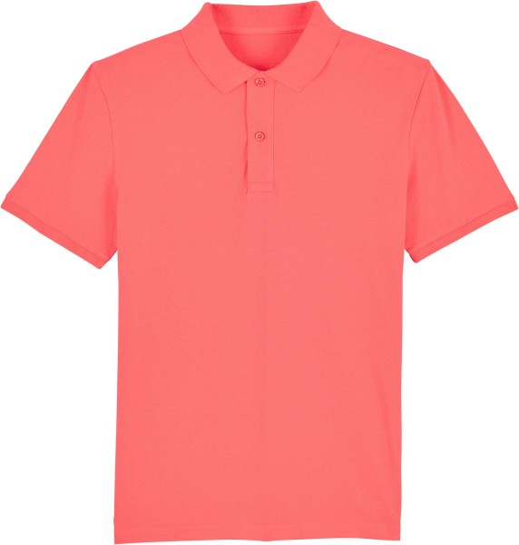 Piqué-Poloshirt aus Bio-Baumwolle - coral wave