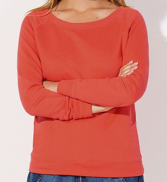 Escapes - Sweatshirt aus Bio-Baumwolle - hot coral - Bild 1