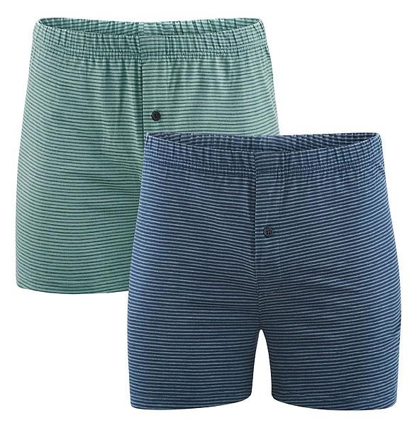 Boxer Shorts - Biobaumwolle - blue/green - 2er-Pack - Bild 1