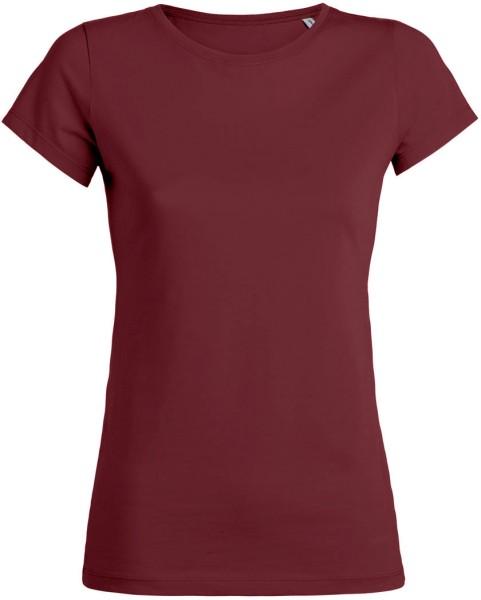 Wants - T-Shirt aus Bio-Baumwolle - burgundy