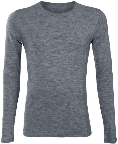 Langarm-Shirt - Bio-Wolle und Bio-Baumwolle sapphire blue - Bild 1