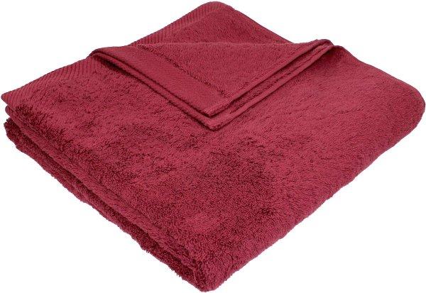 Flauschiges Badetuch aus Bio-Baumwolle - 70x140 bordeaux