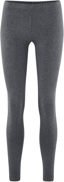 Winter-Leggings aus Bio-Baumwolle- graphite melange