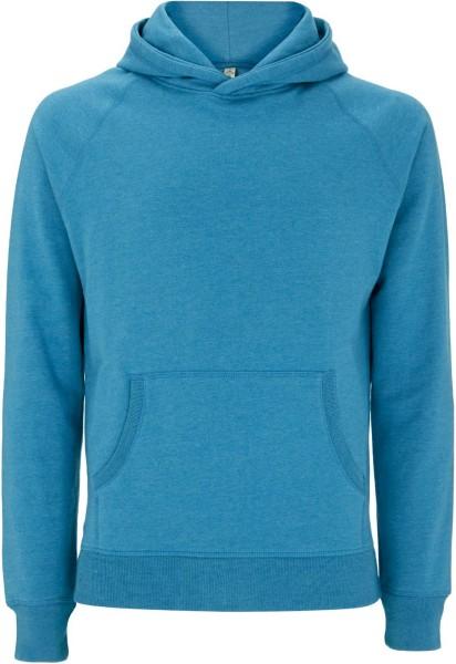 Recycled Unisex Hoodie aus Baumwolle und Polyester - melange blue