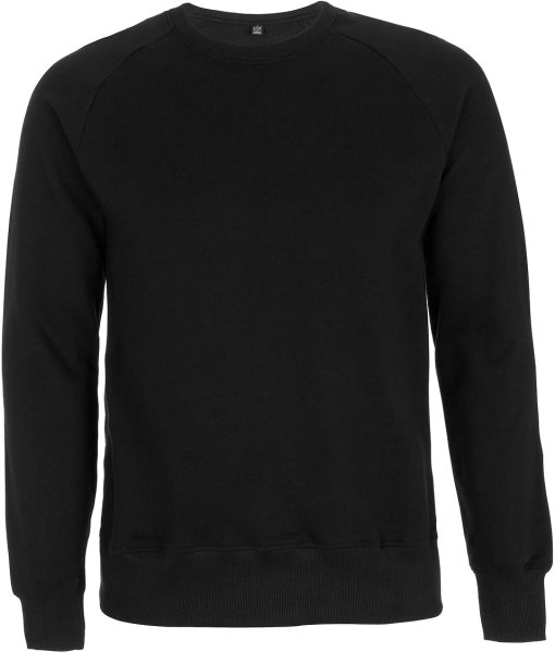 Organic Raglan Sweatshirt schwarz