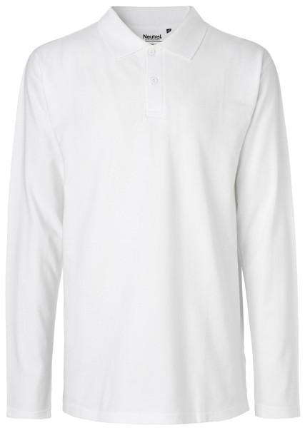 Langes Polo-Shirt weiß Biobaumwolle O20200