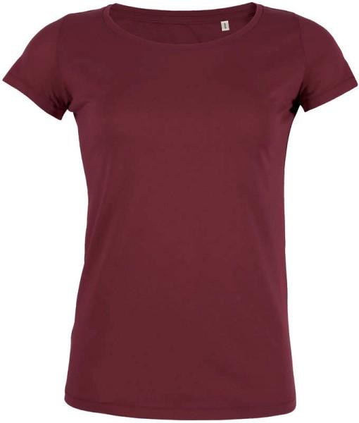 Loves - Jerseyshirt aus Bio-Baumwolle - burgundy - Bild 1
