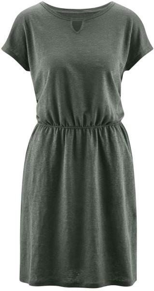 Kleid aus 100% Leinen - khaki