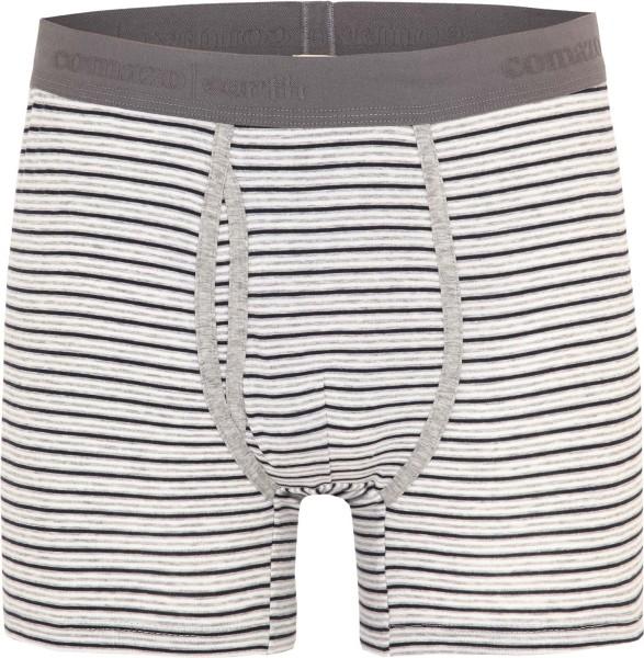 Trunk-Shorts aus Fairtrade Biobaumwolle - grau/navy gestreift