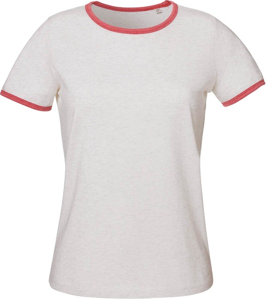 Returns - Ringer T-Shirt Bio-Baumwolle cream h. grey/cranberry - Bild 1