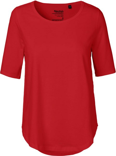 Half Sleeve T-Shirt aus Bio-Baumwolle Fairtrade - red