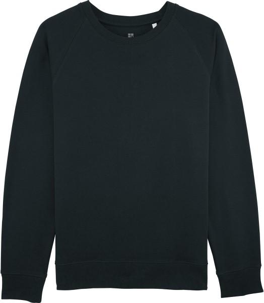 Piqué-Sweatshirt aus Bio-Baumwolle - black