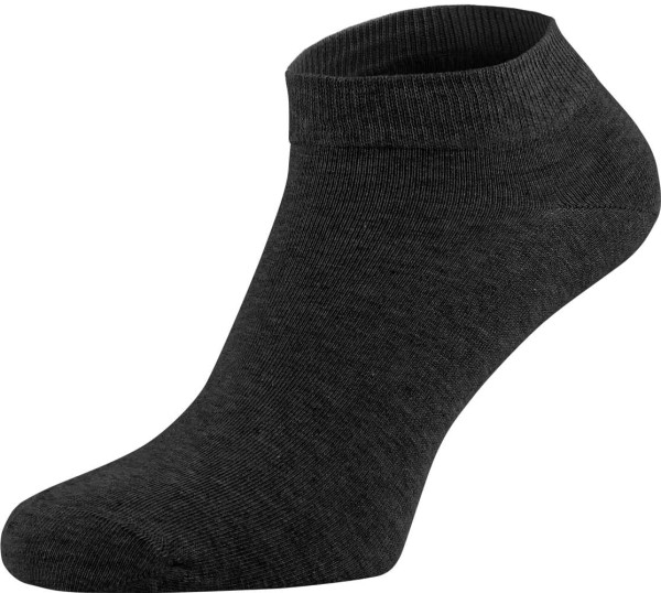 Sneaker-Socken aus Bio-Baumwolle - anthrazit