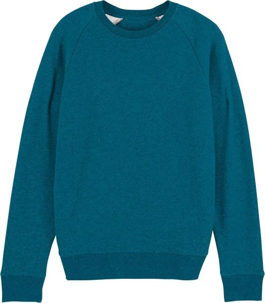 Sweatshirt aus Bio-Baumwolle - dark heather teal