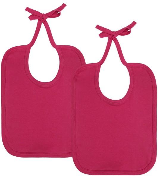 Baby Lätzchen aus Bio-Baumwolle Doppelpack - hot pink