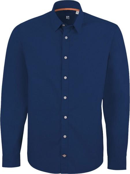 Impresses - Hemd aus Biobaumwolle - deep royal blue