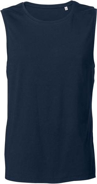 Ärmelloses T-Shirt aus Bio-Baumwolle - navy