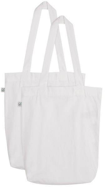 Doppelpack - Organic Cotton Bag - weiss