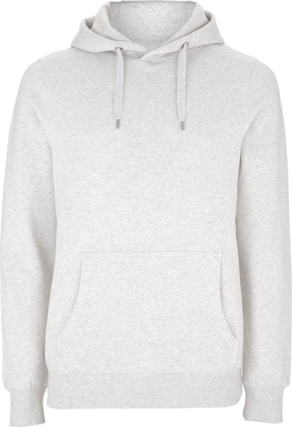 männer hoodie bio fair melange white EP51P