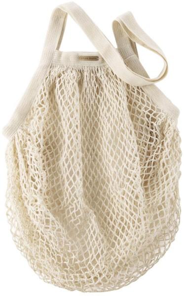 Große Netztasche aus Bio-Baumwolle - 50x40cm - natural